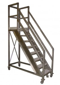 STAINLESS MOBILE WORK PLATFORM