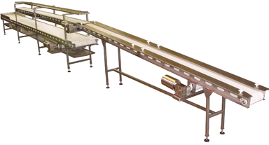 pack-off conveyor