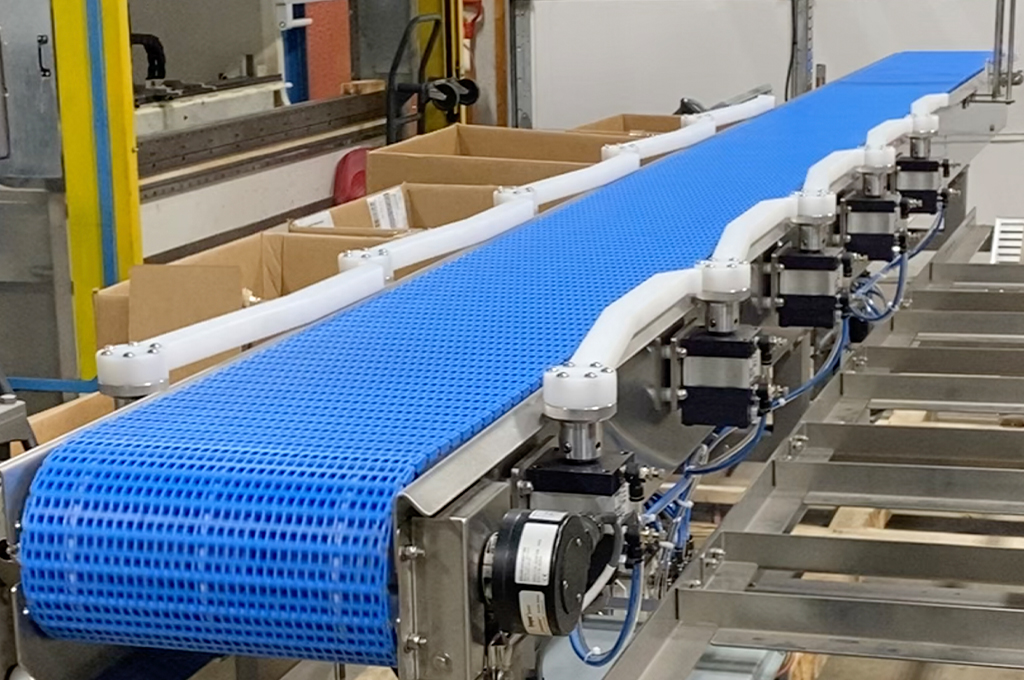 trackIQ sorting conveyor